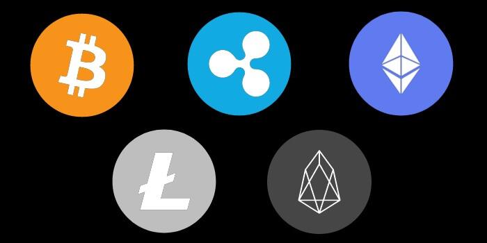 ファイブスターズマーケッツで利用できる仮想通貨銘柄は5種類