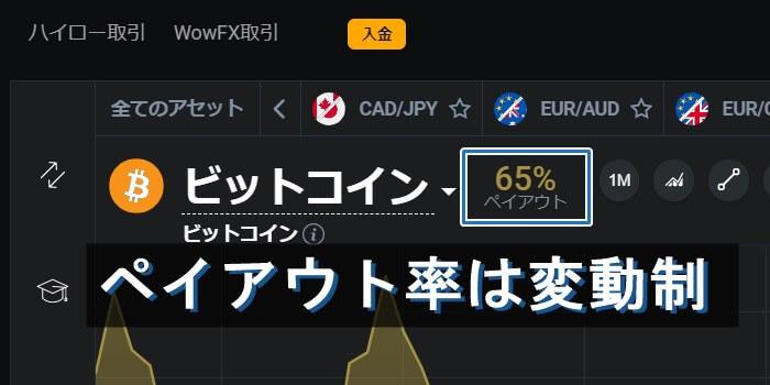仮想通貨のペイアウト率は変動制